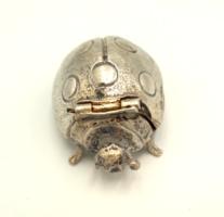 Fogtündérnek!!!Édes ezüst szelence katica formával