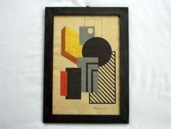 Kassák Lajos konstruktivista festménye