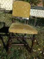 Gyönyörű faragott mintás antik ónémet szék - közelbe akár szállítással