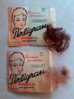 Retro Perligram hajháló régi hajápolási kellék 2 db