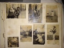 14 db eredeti 1915-ös fotográfia, külföldi fotók antik albumból