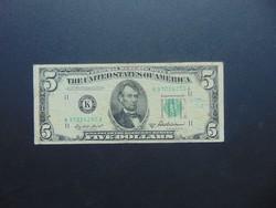 USA 5 dollár 1950 Zöld pecsét !