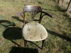 Jelzett antik Jacob & Josef Kohn szék masszív stabil,felújítandó állapotban + Királyi vasúti cimkés