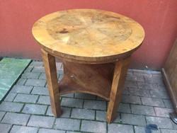 Kerek art deco vintage asztal dohányzóasztal