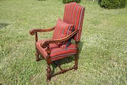 Ónémet faragott fotel, karosszék, karfás szék 2.