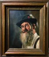 Olajfestmény,férfiportré