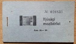 Ifjúsági mozibérlet - 10 Forint