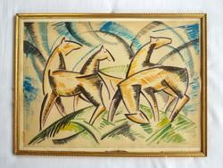 Bortnyik Sándor kubista festménye