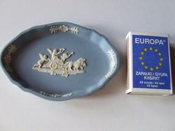 Angol Wedgwood biszkvit porcelán mini, kisméretű tálka, kis tál, tálca, gyűrűtartó