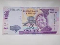 Malawi 20  kwacha 2016 UNC