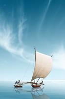 Moira Risen: Hét tengeren hajózva - Gone fishing. Kortárs, szignált fine art nyomat