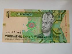 Türkmenisztán 1 manat 2014 UNC