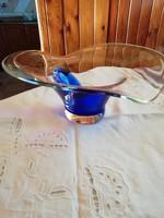 Csodaszép extra méretű üveg asztalközép 33 cm