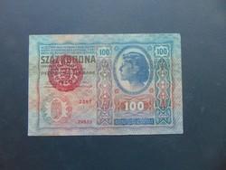100 korona 1912 Magyarország Felülbélyegzés !!!