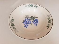 Régi népi dísztányér szőlőmintás falitányér Wilhelmsburg tányér