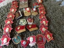 29 db Orosz Lenin kitűző,jelvény