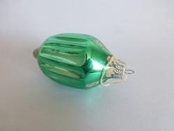 Retro,vintage,üveg festett lampion forma karácsonyfadísz