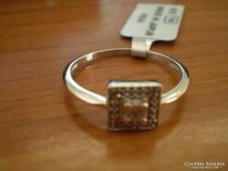 GYÉMÁNT 925-ÖS négyzetes gyürű
