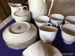 Csodálatos guoguang porcelán kávéskészlet, makulátlan
