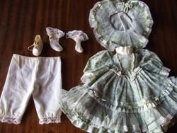 Porcelán baba ruha, porcelánbaba ruha garnitúra-teljes öltözet, hercegnő stílusú