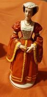 SITZENDORF PORCELÁN! KLEVEI ANNA,ANNE OF CLEVES,VIII.HENRY
