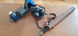 Zenit 12 xp fényképezőgép vakuval és állvánnyal eladó