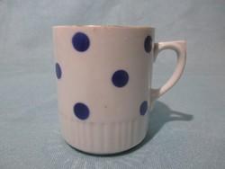 Zsolnay kék pöttyös bögre, csésze