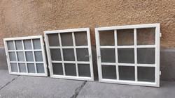 3 db régi fa ablak