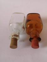 2 db kis pipettás gyógyszertári üvegcse