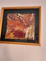 Mészáros Géza :                Arany terrakotta  39x 44 cm
