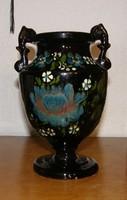 Korondi mázas füles váza
