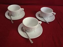 Nespresso kávés capuccino-s csészék kanállal együtt 3db