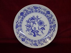 Bohemia Csehszlovák porcelán lapostányér, hagymamintás, kobalt kék.