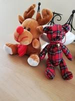 Karácsonyi dekorációhoz rénszarvas és mackó