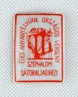 0Y349 Édes anyanyelvünk verseny kitűző 1983