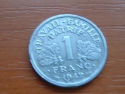 FRANCIA 1 FRANC FRANK 1942 VICHY ALU #