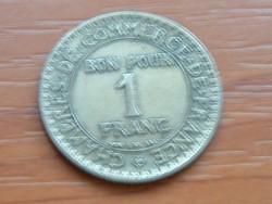 FRANCIA 1 FRANC FRANK 1922 BON POUR #