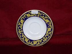 Mexandre francia porcelán kávéscsésze alátét. Orosz cári mintával.
