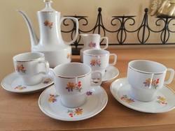 Régi hollóházi 4 személyes kávés