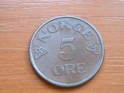 NORVÉGIA 5 ŐRE 1954 #