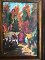Eredeti Deák János festmény Nagy Oszkár stílusában