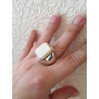 Brutális ezüst gyűrű gyöngyházzal