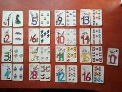 Számok gyerek kártya teljes Ritka