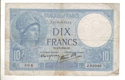 10 frank francs 1941 Franciaország