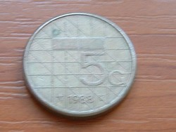 HOLLANDIA 5 GULDEN 1988 #
