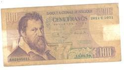 100 frank francs 1971-75 Belgium