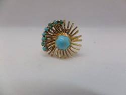 Türkizes arany gyűrű