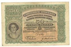 50 frank franken 1924 Svájc