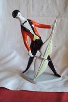 Hibátlan,Zsolnay Török J.art dceo (Zenész)porcelán figura