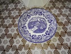 Kék jelenetes olasz kínáló tányér.